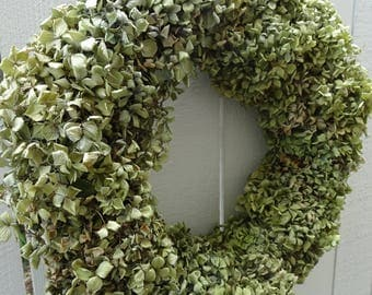Hydrangea Wreath  Mother's Day  Dried Wreath  Natural Wreath  Home Decor  Shabby Chic Decor