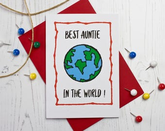 Best Auntie In The World Card