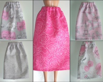 """Paris Themed Skirt for Barbie Dolls ~ Clothes for 11 1/2"""" Fashion Dolls"""