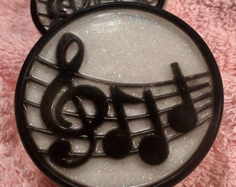 Musical Notes Goat's Milk Glycerin Soap - Sparkly! - With Gluten-Free Oatmeal