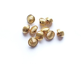 6 Gold Buttons, Fancy, Shank
