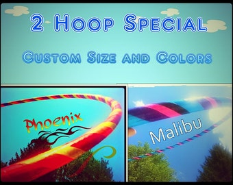 Two Hoop Special Custom Dance Hoops Hula Hoops for Fitness Custom Size and Colors