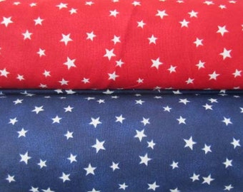 Lucky Stars, Red, White and Blue, USA, Patriotic American Prints