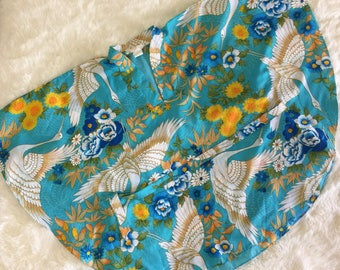 Vintage Dolman Sleeve 70s Hawaiian Kimono Tunic Poncho