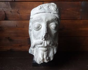 Vintage French Roman Moulage Musee Du Louvre large bust statue figurine plaster ornament circa 1970-80's / English Shop
