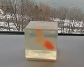 """Maine """"Ice Fish In"""" Soap Handmade Childrens Soap, Kids Birthdays, """"Frozen Fish"""" , Party  Favor, Fun Gift, Personalize, CUSTOM ORDERS WELCOME"""