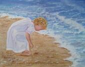 Beach Art, Beach Girl, Nursery Decor, Beach Decor, Child Nursery Decor, Beach Wall Art, Coastal Art, Beach Watercolor, Beach Painting Decor