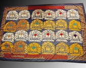 large  Great uzbeki silk handmade embroidery  vintage  Wall Hanging Table Cover Ethnic Suzani