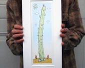 Saguaro Daytime Cactus Art Print
