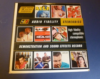 Audio Fidelity Demonstration And Sound Effects Vinyl Record AFSD 5890  1959 Rare