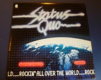 Status Quo Rockin' All Over The World Vinyl Record LP ST-11749 Capital Records 1977