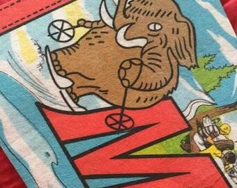 Vintage Mammoth Felt Pendant