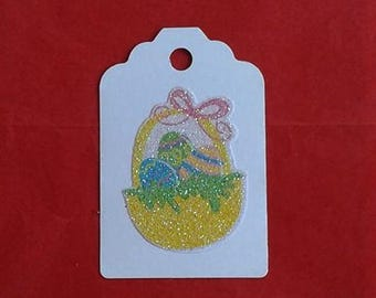 Easter Basket / Easter Tags / Bunny Tags / Recycled / Up Cycled / Set of 3