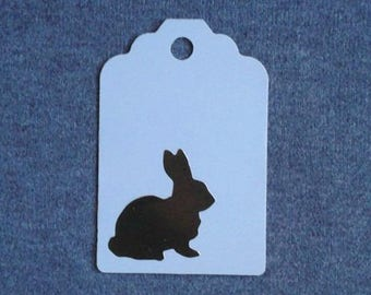 Bunny Tags / Gold Bunny / Recycled / Up Cycled / Set of 5