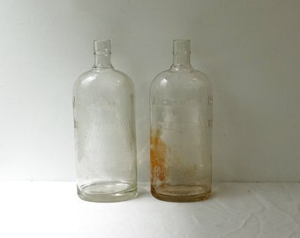 Vintage collectable vintage industrial bottles, old kerosene bottles, Australian glass bottles