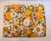 Vintage Mid Century Mod 60's-70's Fieldcrest LAZY DAISY Twin Fitted Percale Sheet