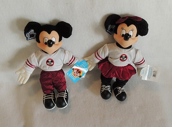 Applause Vintage Disney Mickey Minnie Mouse Musketeers Dress Ups With Tags