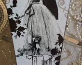 Til Death Do Us Part Wooden Decoupage Small Coffin Box Wedding Ring Engagement Ring Treasure Holder