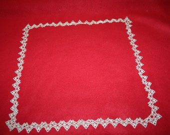 Vintage Tatted Lace Edging- square