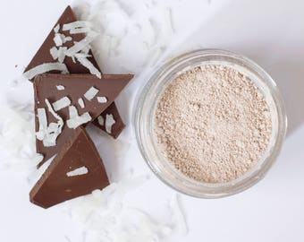 Chocolate Face Mask - All-natural - cocoa - clay - coconut milk - hydrate - renew - exfoliate
