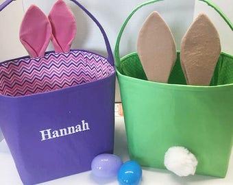 Easter Basket, Personalized, Large Easter Basket, Bunny Easter Basket, Large Easter Bucket, Personalized Easter, Easter Pail