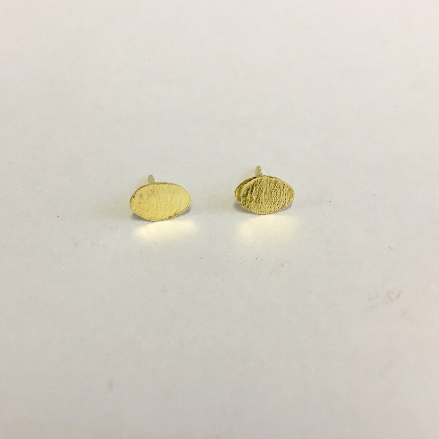 zoom brushed stud listing fullxfull soft il matte earrings simple gold