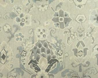Designer Pillow Cover  - JRDM Floral Motif Linen Pumice