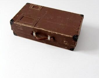 vintage shipping box, brown mailing box storage