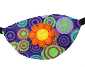 Eye Patch Spring Bloom Floral Cosplay Fashion Fantasy Lavender Purple Orange