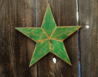 Medium Rustic wood star #508