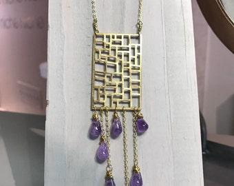 Tilework Chandelier Necklace