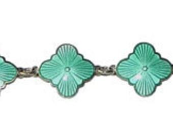 Vintage Enameled Sterling Silver Bracelet by David Andersen