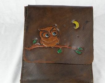 Owl on a Branch Messenger Bag