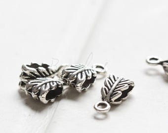 20pcs / Link / Bail / Oxidized Silver Tone / Base Metal / 14x6mm (Y11056//C314)