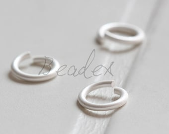 20 Pieces / Matte Silver Plated / Real Silver / Jump Rings / Brass Base / Ring / 10x1.5mm  (C429JP//C772)