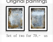 Painting set of two Acrylic painting grey Abstract Painting g  from Jolina Anthony direct from the Studi