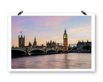 London England, Photography, Fine Art Photography, Landscape Photo, Big Ben, River Photography, London Bridges,London Wall Art,English Decor