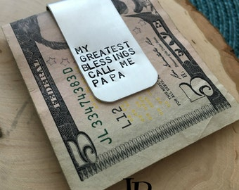 Hand Stamped Money Clip ~ Money Clip ~ Hand Stamped ~ Personalized Money Clip ~ Men's Jewelry ~ Man's Personalized Gift ~ Kid's Names