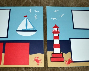 10 Premade 12x12 Florida Vacation Scrapbook Pages