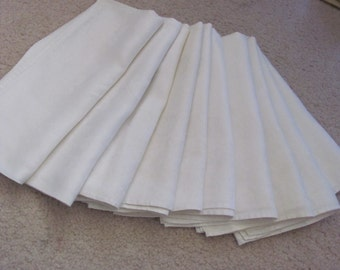 """Set of 10 Beautiful Cotton Double Damask Dinner Napkins 22"""" (02A)"""
