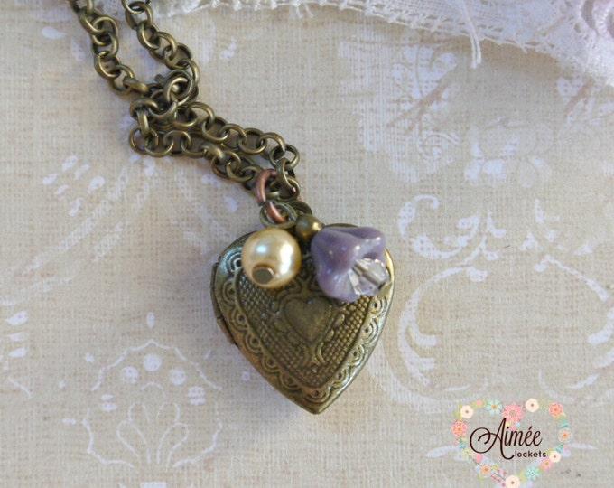 heart locket, dangle locket, brass locket, antique bronze locket, photo locket, memory locket, victorian locket, vintage locket