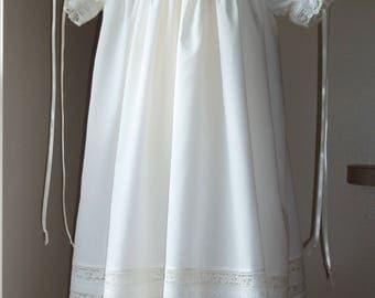 Handmade Girls Heirloom Dress and Slip