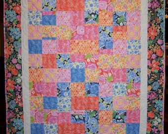 Ready to Ship, Honey Honey, Lap Quilt, Patchwork Quilt, Handmade, Busy Hands Quilts
