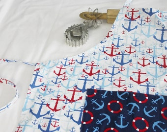 Anchors Adult Apron with Pocket