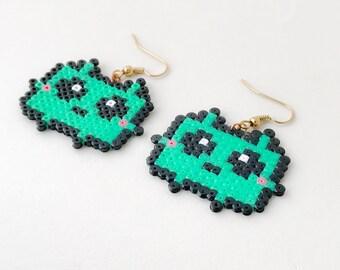 Kawaii Monster Hama Bead Earrings