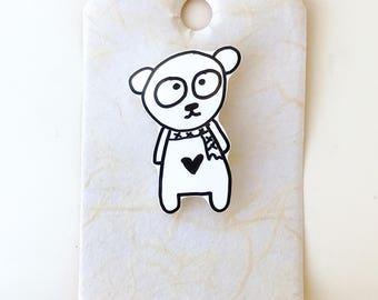 Bear Shrink Plastic Brooch