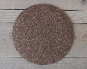 Felt Placemat - 10 inches - 100% Merino Wool  - 5mm Thick - German-milled - Rich, Lightfast Colors - Eco-Friendly - Nutmeg