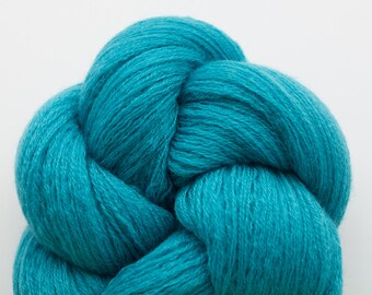 Turquoise Recycled Merino Lace Weight Yarn, MER00200