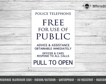 DIY Tardis - Police Box reproduction doctor who metal sign geek gift phone box fandom cosplay
