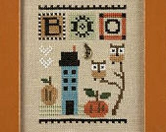 10% OFF Pre-order NEW Boo Celebrate! by Lizzie Kate at thecottageneedle.com smalls Halloween October owls pumpkins